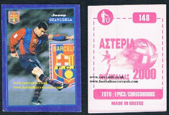 2000 Greek Guardiola Pep barca  sticker